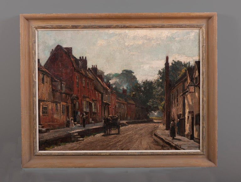 The Delivery - British, Oil, Landscape - Painting by Edward King