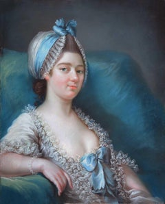 Portrait of a Lady - Late 18th Century European Pastel