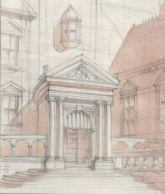 The Doorway - 20th Century Architectural Drawing