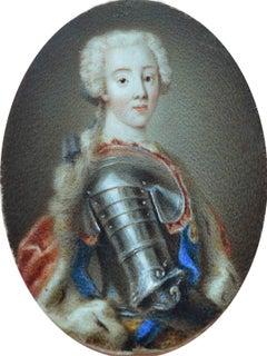 Charles Stuart - The Young Pretender, English School Mid 18th Century Miniature