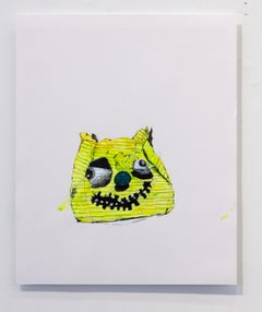 Nic Mathis, Untitled (Pumpkin), unique unframed drawing on paper