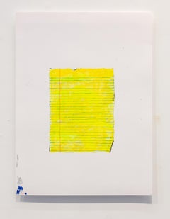 Nic Mathis, Untitled (Blank 2), unframed unique legal paper ink drawing