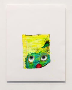 Nic Mathis, Untitled (Face), unique unframed ink monster drawing