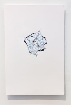 Nic Mathis, Untitled (Blank White 2), unframed unique notebook paper ink drawing