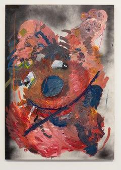 Nic Mathis, Untitled (Medium Smoker 2), unique monster painting on wood panel