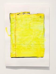 Nic Mathis, Untitled (Small Blank), original unframed drawing on paper