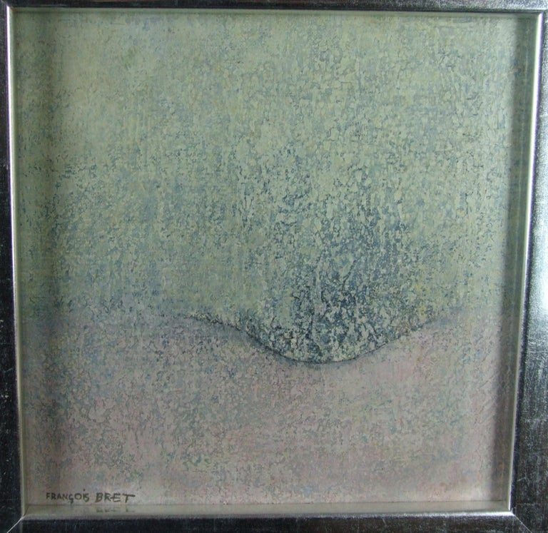 abstraction 1 - Gray Abstract Painting by Francois Bret