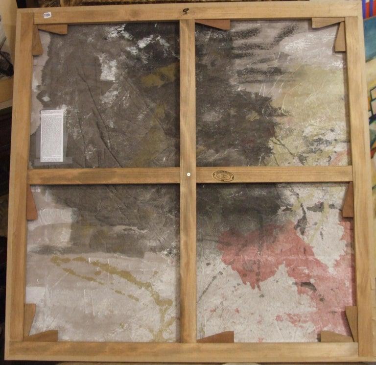 Abstract painting from the 60's by the french painter Jousselin. Not framed  François Jousselin, né à Laval le 27 octobre 1926 et mort à Issy-les-Moulineaux le 3 octobre 2009, est un peintre français. Il vécut à Vanves de 1955 à 2009. L'œuvre