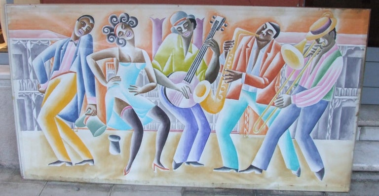 Paul de Cayeux Figurative Art - Jazz Panel #2