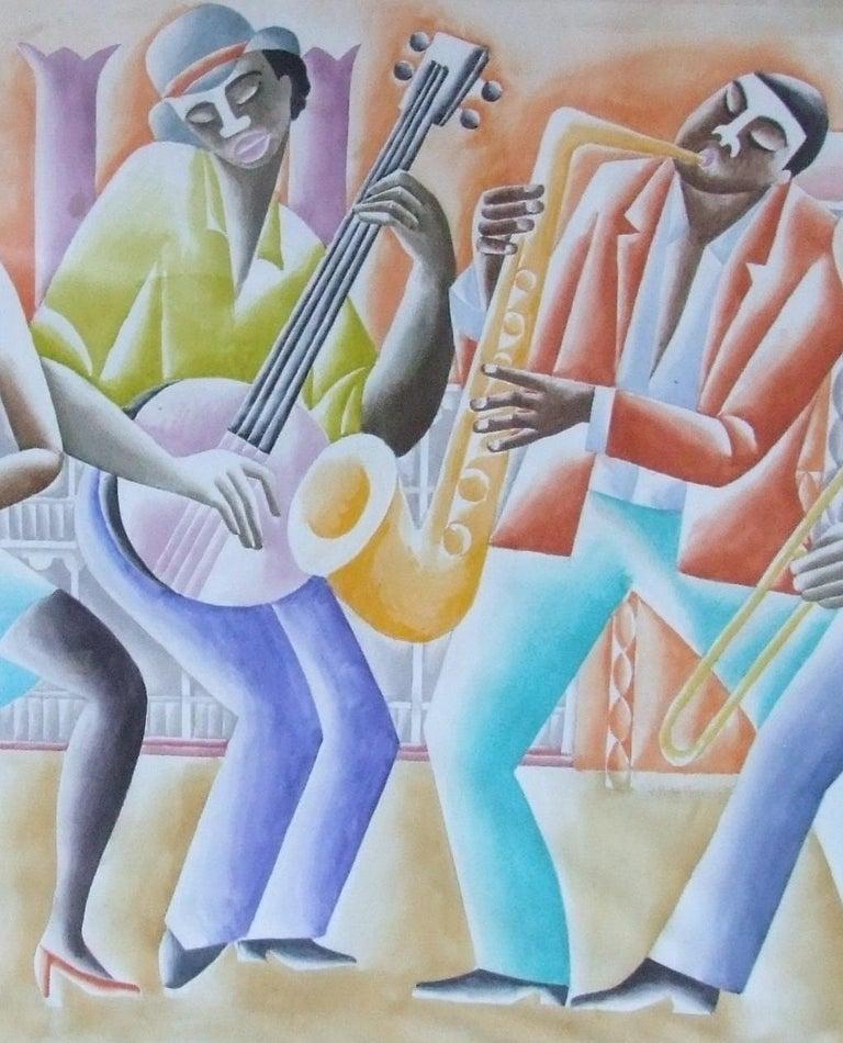 Jazz Panel #2 - Art Deco Art by Paul de Cayeux