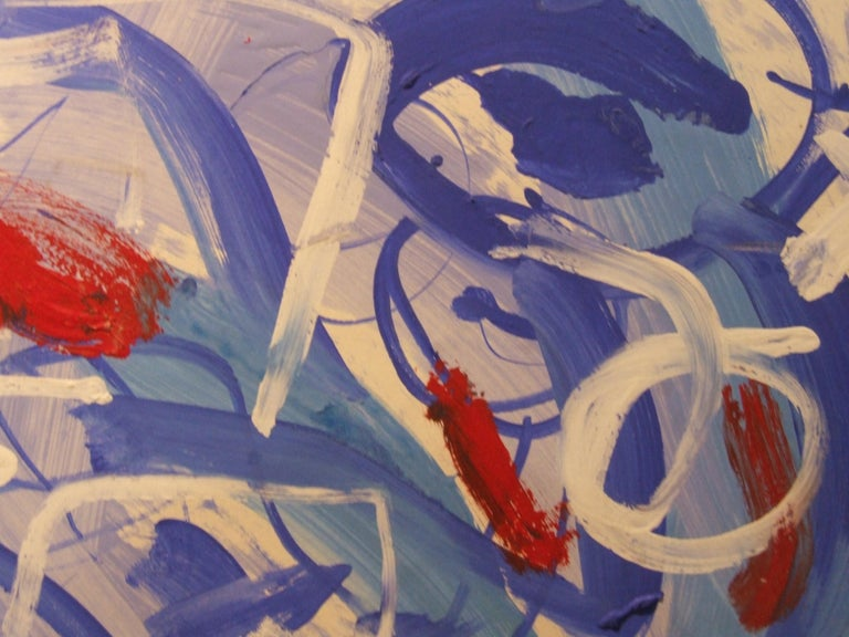 abstract bleu - Abstract Art by Pascal Simonpietri