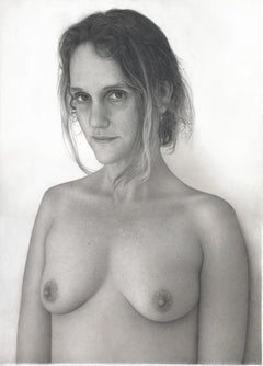 "Realist drawing of a woman, ""Nanny"", graphite on paper"