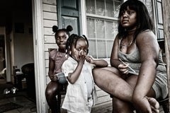 "Street photography woman with children, ""Ever Onward I, No. 14"", C Print"