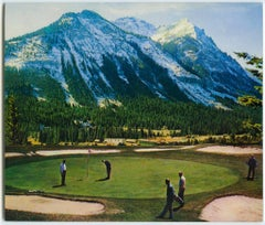 "small scale landscape, ""Wish You Were Here (Golf Course)"", (Photorealism)"