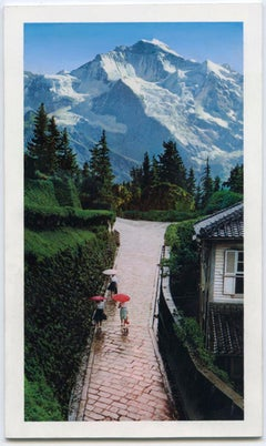"""small scale landscape, """"Wish You Were Here (Parasol)"""", (Photorealism)"""