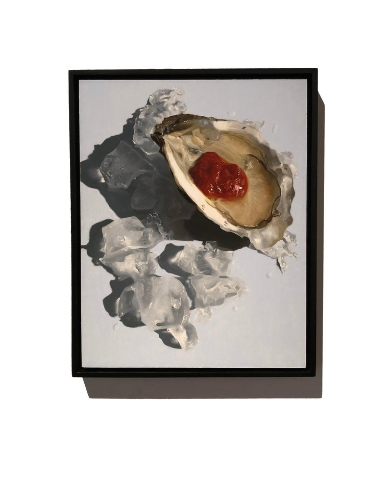 Photorealistic oyster painting,