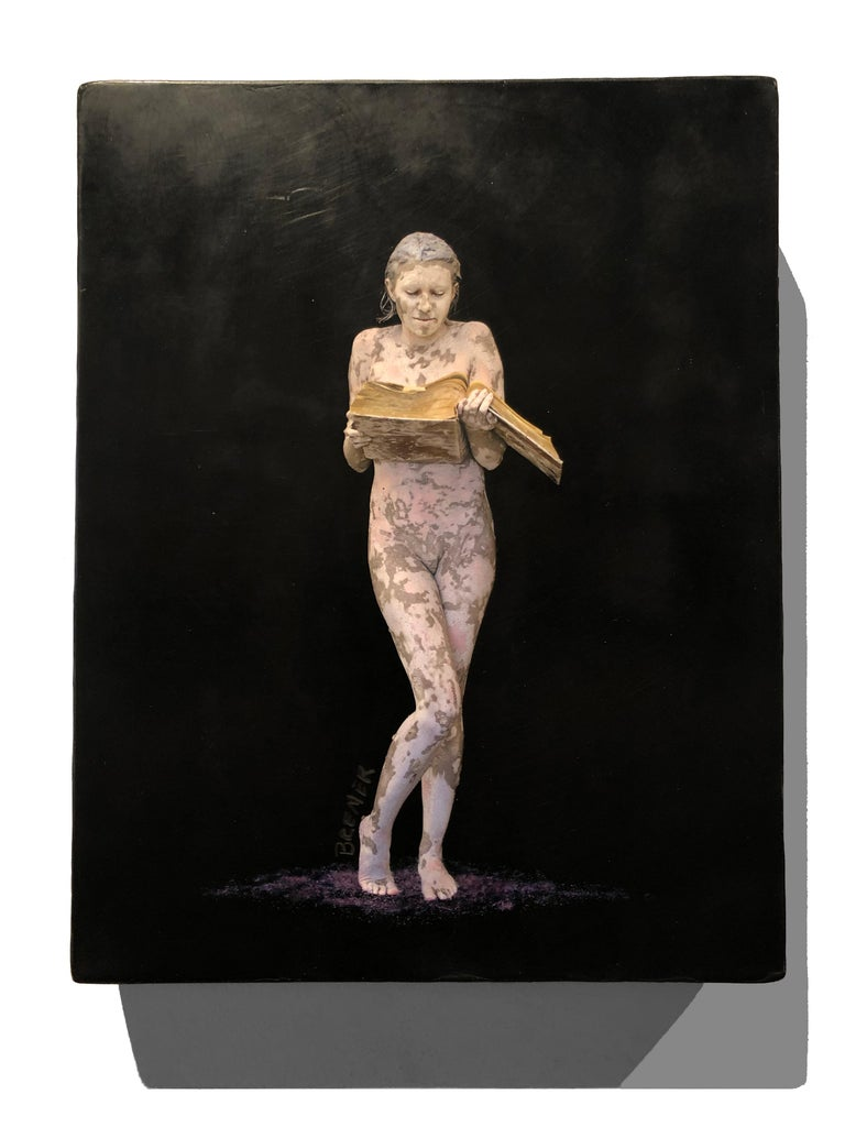 Nude Figure with black and purple,