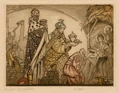 Adoration of the Magi Nativity Scene —Christmas