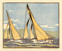 'The Start of the Race' from 'Drama and Color in the America's Cup Races'