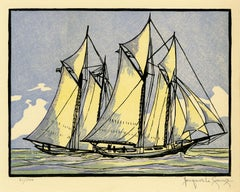'Sappho Passes Livonia' from 'Drama and Color in the America's Cup Races'