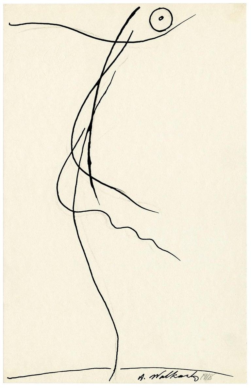 Abraham Walkowitz Figurative Art - Untitled (Figurative Abstraction of Isadora Duncan #6)