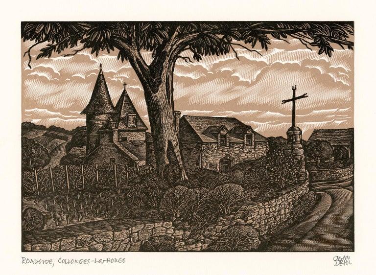 John DePol Figurative Print - Roadside, Collonges-La Rouge