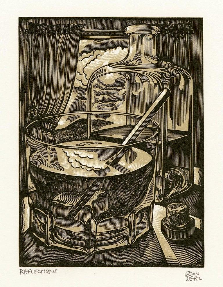 John DePol Figurative Print - Reflections