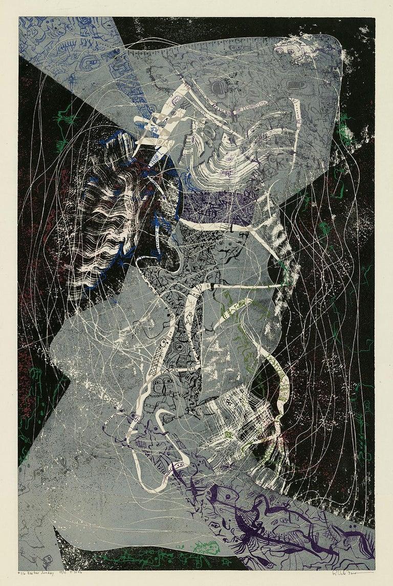 Robert Vale Faro Abstract Print - Easter Sunday