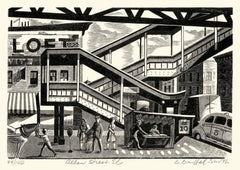 Allen Street El  —mid-century modern