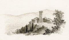 Tower at Gargonza — 19th Century Italy