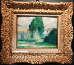 """Green  landscape -France""  Oil  cm.  32 x 24"