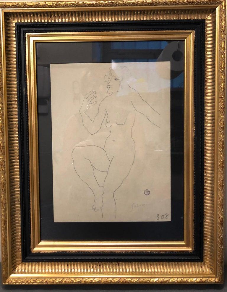 "Léopold Survage Figurative Art - ""Naked"" Pencil cm. 20 x 28  1920"