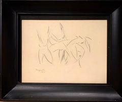 """Study for """"Explosion lyrique"""" pencil 1918 cm. 32 x 26 ,Dance,Futurism,"""