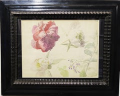 """Flowers"" botanical study 1890    watercolor and pencil  cm. 30 x 23"