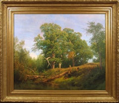 Deer in a Wooded Landscape