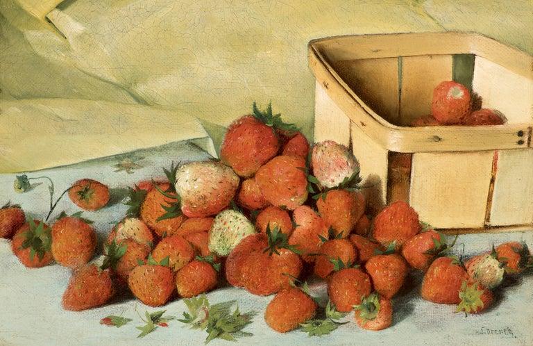 Joseph Decker Still-Life Painting - Still Life with Strawberries