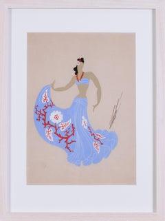 A set of 6 costume designs including a ballgown for Vera Lynn, Tiller girls, bal