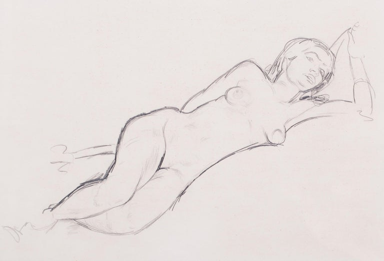 Edward Wolfe Nude - Reclining nude, 1940s