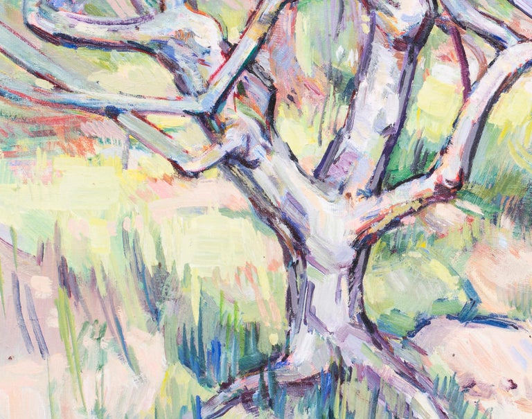 In the orchard - Post-Impressionist Painting by Richard Walker