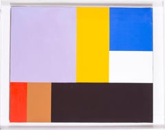 A French 20th Century minimalist abstract work by Joel Froment II, acrylic