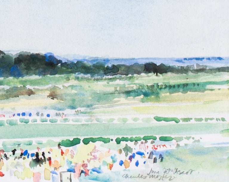 At the finishing post, Ascot Racecourse - Art by Charles Mozley