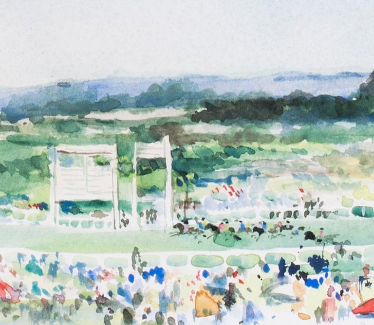 At the finishing post, Ascot Racecourse - Impressionist Art by Charles Mozley