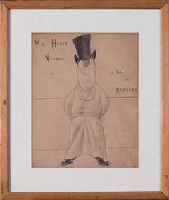 19th Century British caricature of Mr Harry Nichols by Max Beerbohm