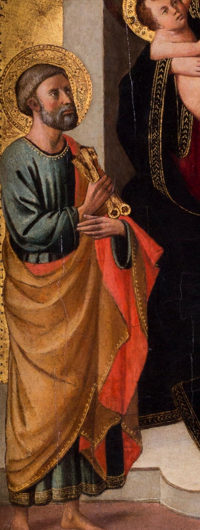 The Madonna and Child with St. Peter and John the Baptist For Sale 6