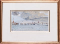 A watercolour of Basino di San Marco, Venice, by British artist John Doyle