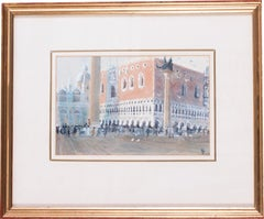 A watercolour of San Marco, Venice, circa 1986 by British artist John Doyle