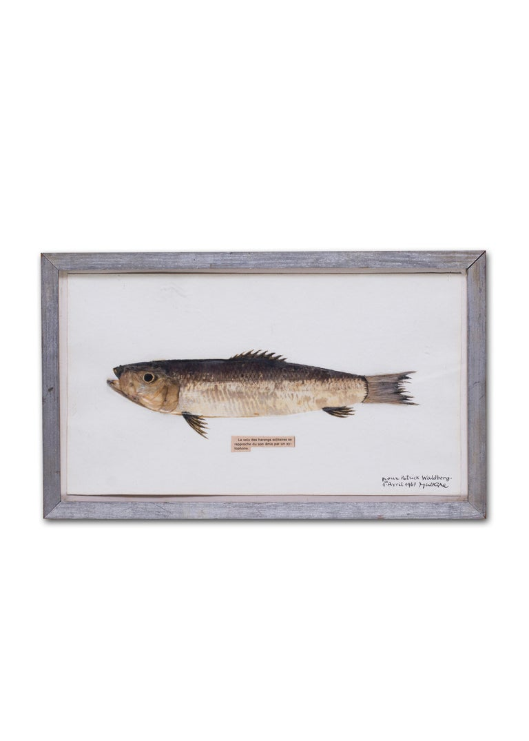 Surrealist, French, 20th Century picture of a herring by Georges Malkine For Sale 5