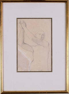 French, 19th C, Study for the Archangel Raphael of Saint-Ferdinand Chapel, Paris