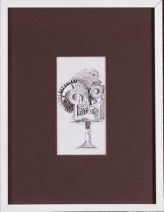 Mid 20th Century British drawing by Mod Brit artist Graham Sutherland