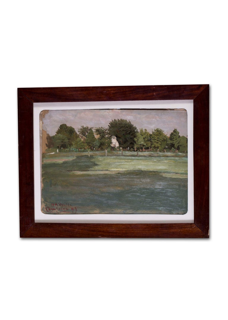 American, 19th Century oil sketch plain air, France For Sale 2
